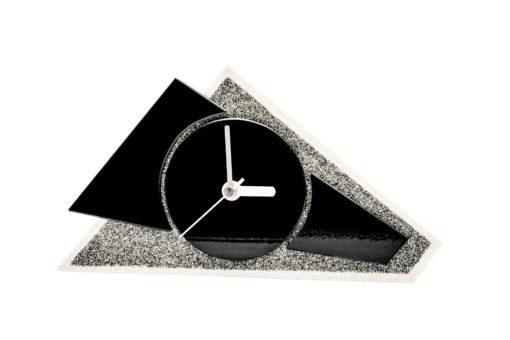 Kaminuhr aus Glas und Sandstein
